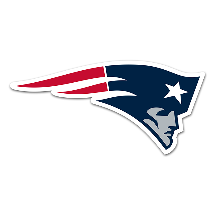 New England Patriots NFL Logo Sticker