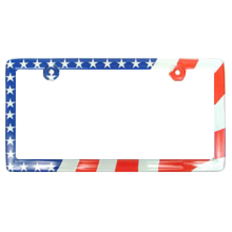 American USA Flag Plastic License Plate Frame