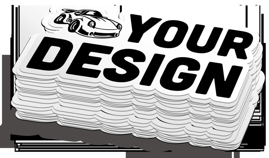 Stack of Custom Car Decals