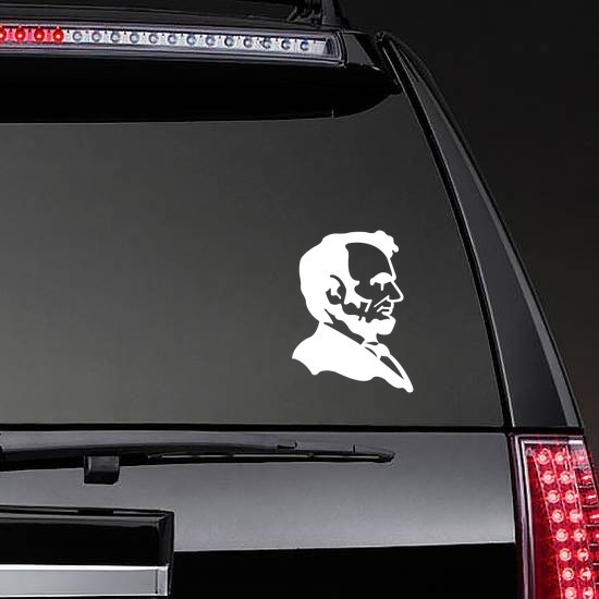 Abraham Lincoln Sticker on a Rear Car Window example