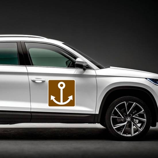 Anchor Sign Magnet on a Car Side example