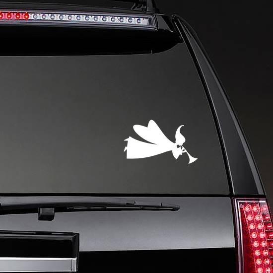Angel Blowing Horn Sticker on a Rear Car Window example