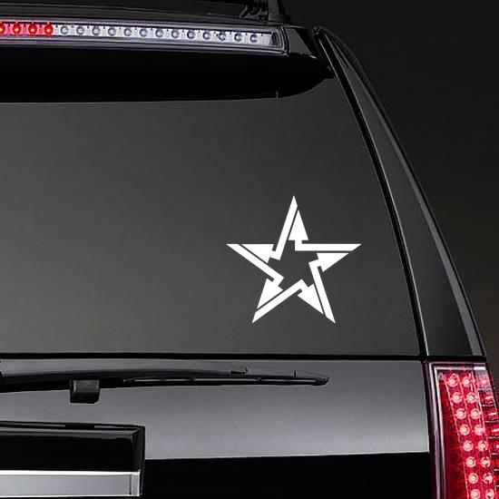 Arrow Star Sticker on a Rear Car Window example
