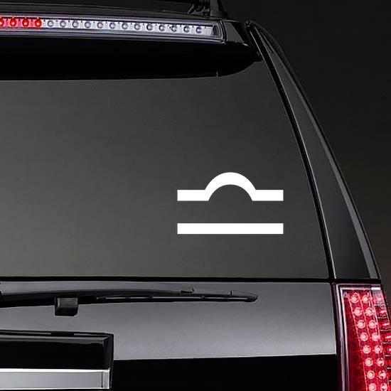 Astrology - Libra Zodiac Symbol Sticker on a Rear Car Window example