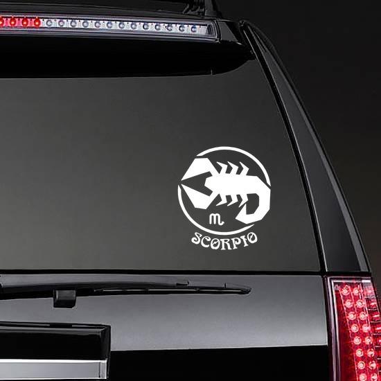 Astrology - Scorpio Sticker on a Rear Car Window example