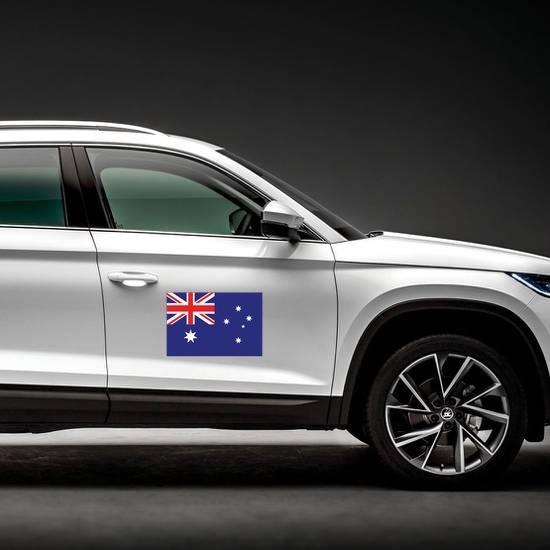 Australia Flag Magnet on a Car Side example