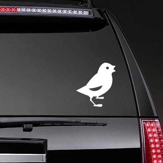 Baby Chick Chicken Chirping Sticker on a Rear Car Window example
