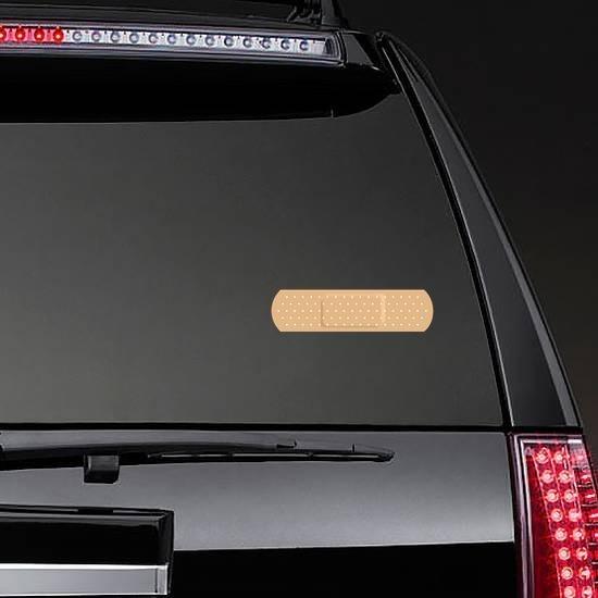 Basic Bandage Sticker on a Rear Car Window example