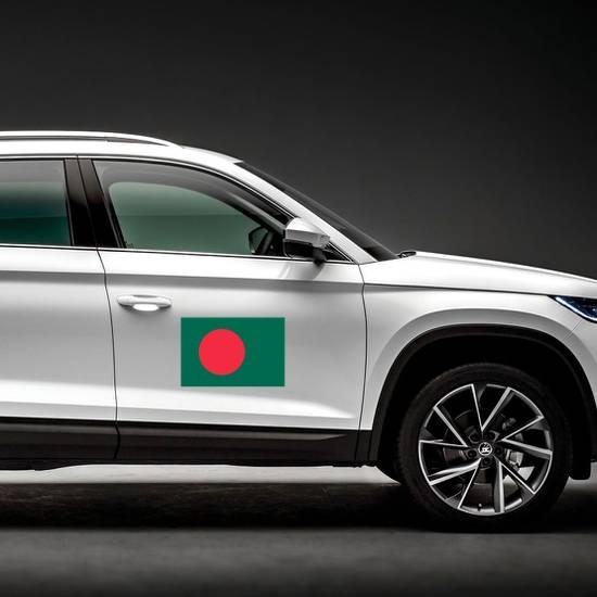 Bangladesh Flag Magnet on a Car Side example