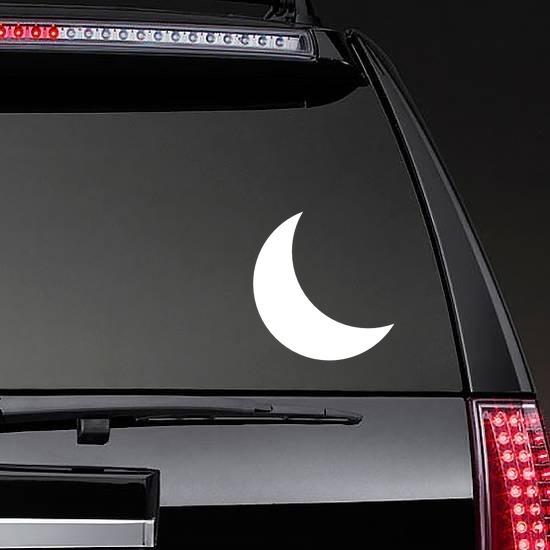 Beautiful Cresent Moon Sticker on a Rear Car Window example
