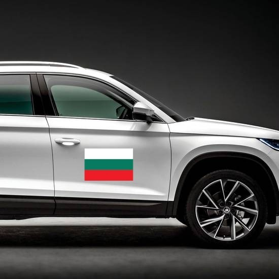 Bulgaria Flag Magnet on a Car Side example