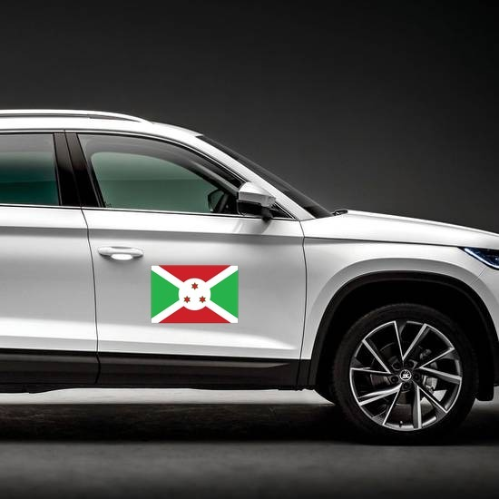 Burundi Flag Magnet on a Car Side example