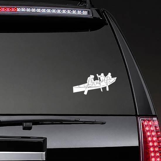 Canoe Sticker on a Rear Car Window example