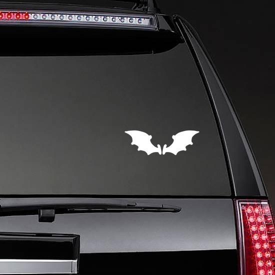 Cartoon Bat Wings Sticker on a Rear Car Window example