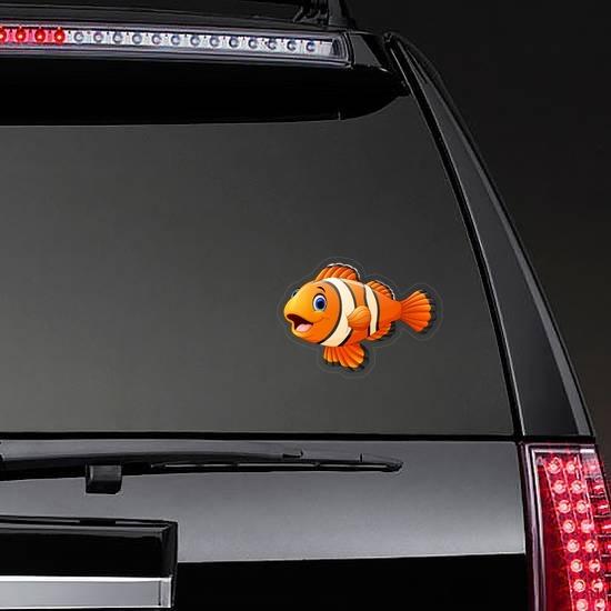 Clown Fish Sticker on a Rear Car Window example