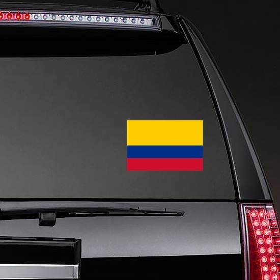 Colombia Country Flag Sticker on a Rear Car Window example