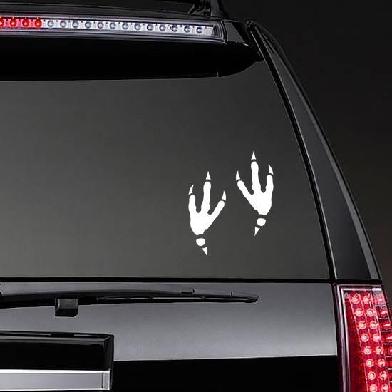 Cool Bird Footprints Sticker on a Rear Car Window example