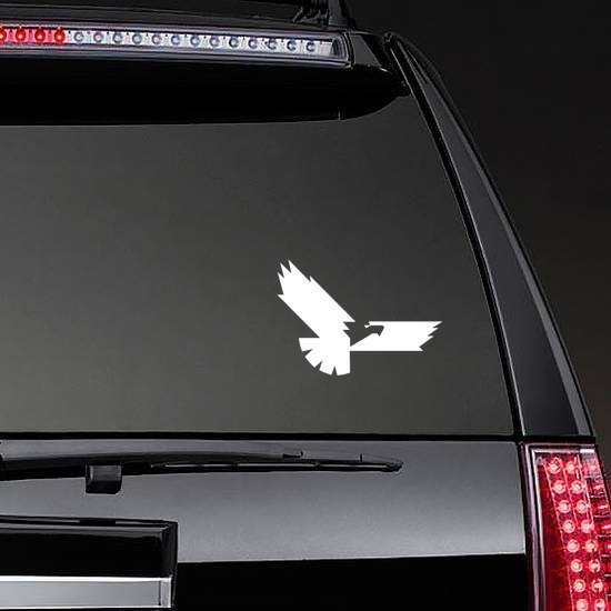 Cool Eagle Sticker on a Rear Car Window example