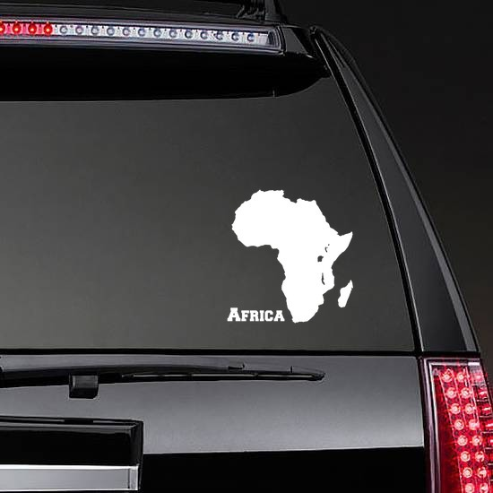 Country Of Africa Sticker on a Rear Car Window example