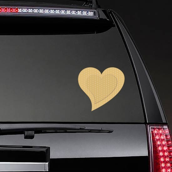 Cute Heart Band Aid Bandage Sticker on a Rear Car Window example