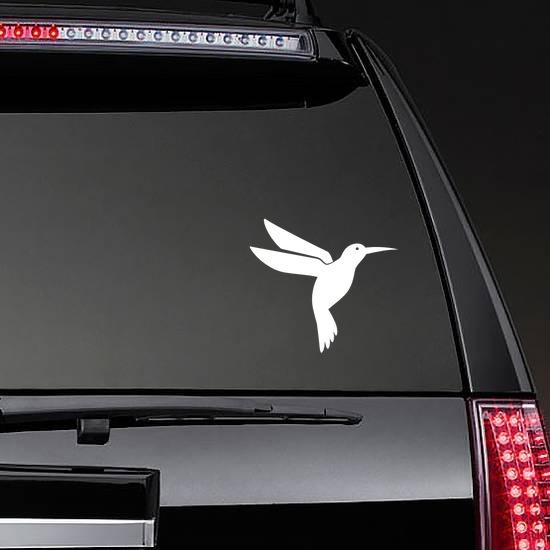 Cute Hummingbird Sticker on a Rear Car Window example