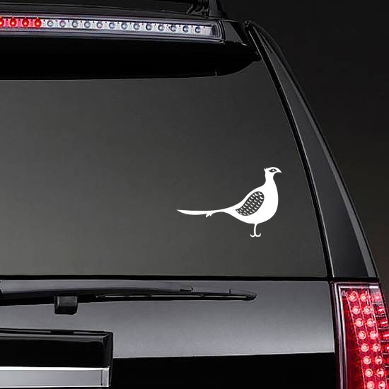 Detailed Pheasant Sticker on a Rear Car Window example
