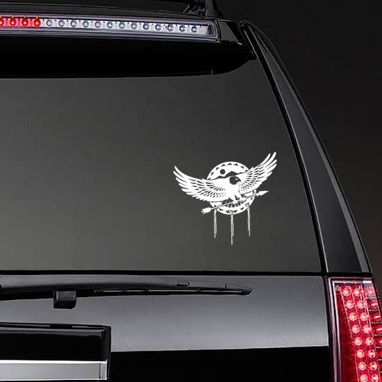 Eagle Flying With Arrow Sticker on a Rear Car Window example
