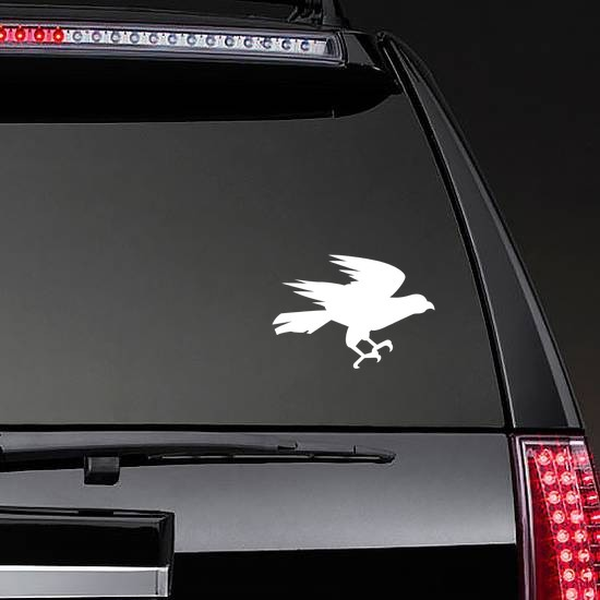 Eagle Hunting Sticker on a Rear Car Window example