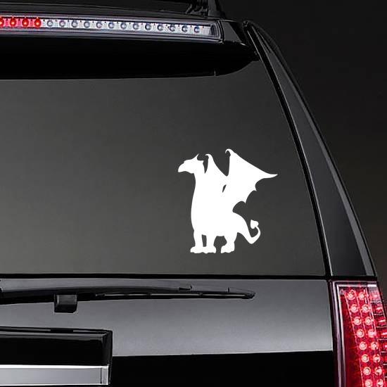 Fierce Dragon Sticker on a Rear Car Window example