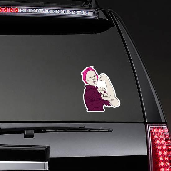 Fight Cancer Survivor Sticker on a Rear Car Window example