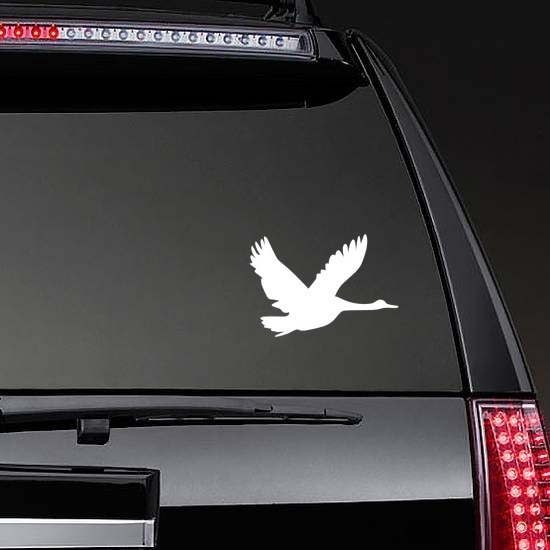 Flying Goose Sticker on a Rear Car Window example