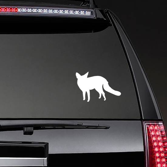 Fox Sticker on a Rear Car Window example