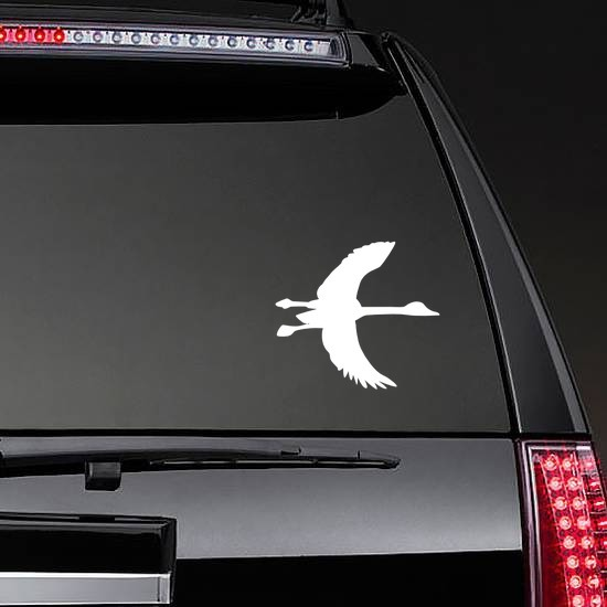 Goose With Long Neck Sticker on a Rear Car Window example
