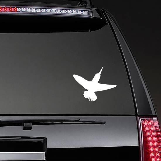 Hummingbird Sticker on a Rear Car Window example