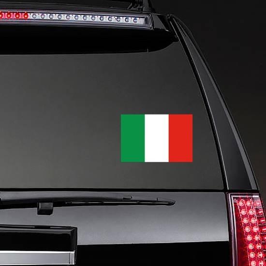 Italy Flag Sticker on a Rear Car Window example