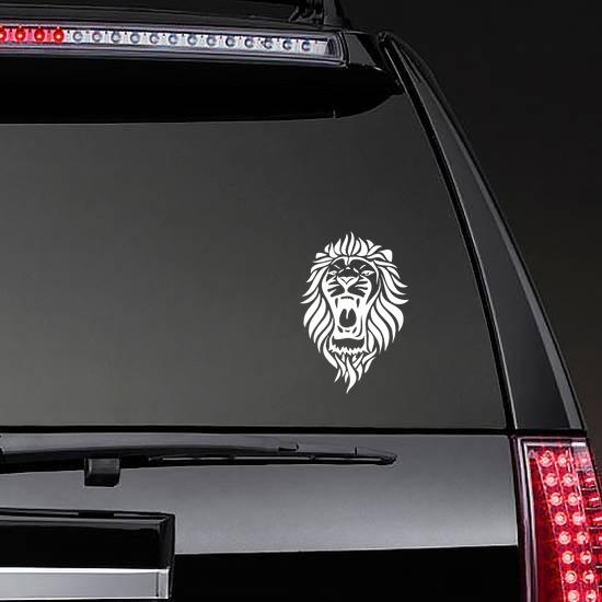 Lion Roaring Sticker on a Rear Car Window example