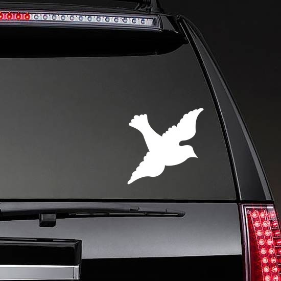 Lovely Dove Sticker on a Rear Car Window example