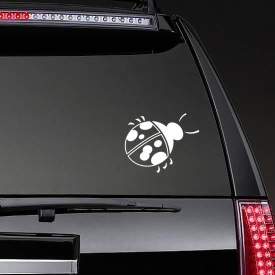 Lovely Ladybug Sticker on a Rear Car Window example