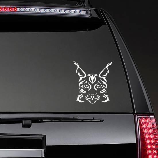 Lynx Head Sticker on a Rear Car Window example