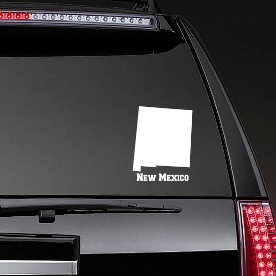 New Mexico State Sticker on a Rear Car Window example