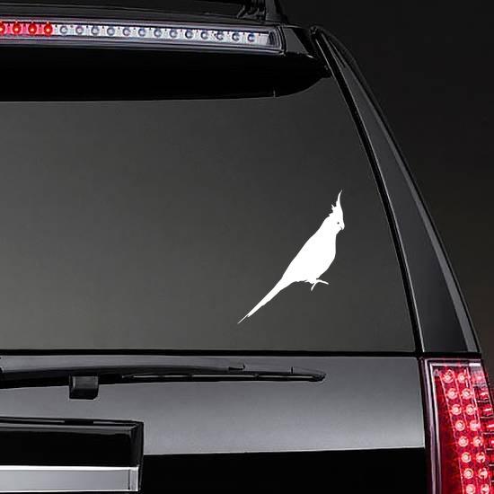 Parakeet Sticker on a Rear Car Window example