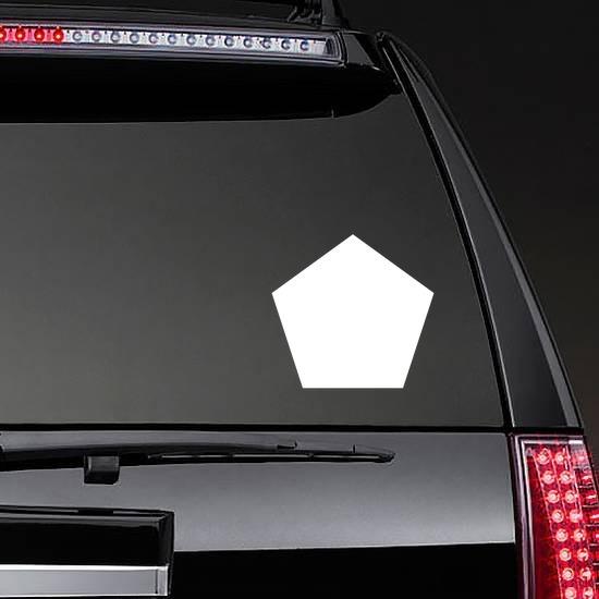 Pentagon Shape Sticker on a Rear Car Window example