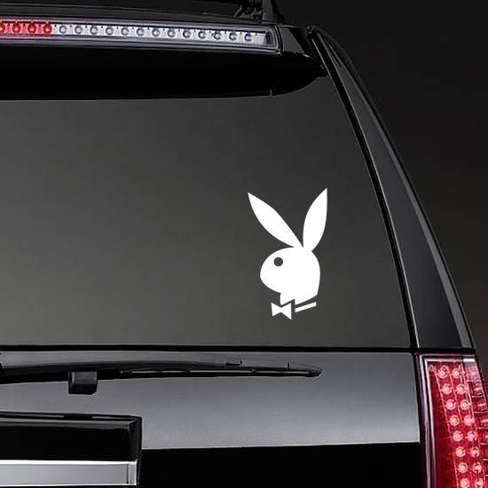 Playboy Bunny Sticker on a Rear Car Window example