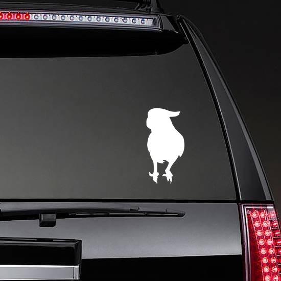 Pretty Parrot Sticker on a Rear Car Window example