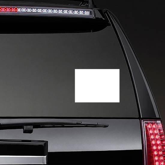 Rectangle Shape Sticker on a Rear Car Window example