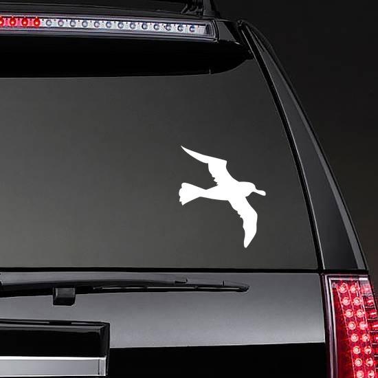 Seagull Sticker on a Rear Car Window example