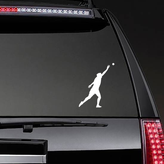 Shot Put Sticker on a Rear Car Window example