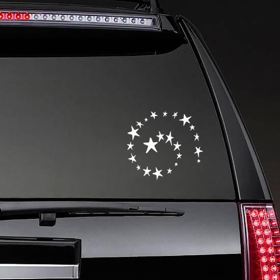 Stars Spiral Sticker on a Rear Car Window example