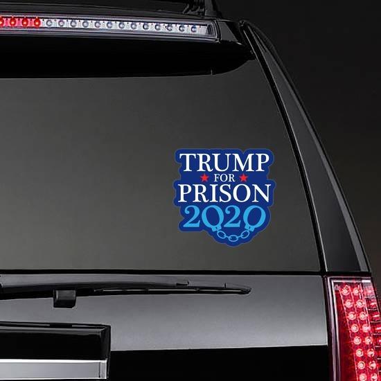 truck Donald J Trump President Round Badge-1  sticker decal for car window