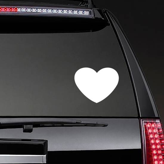 Wide Heart Shape Sticker on a Rear Car Window example